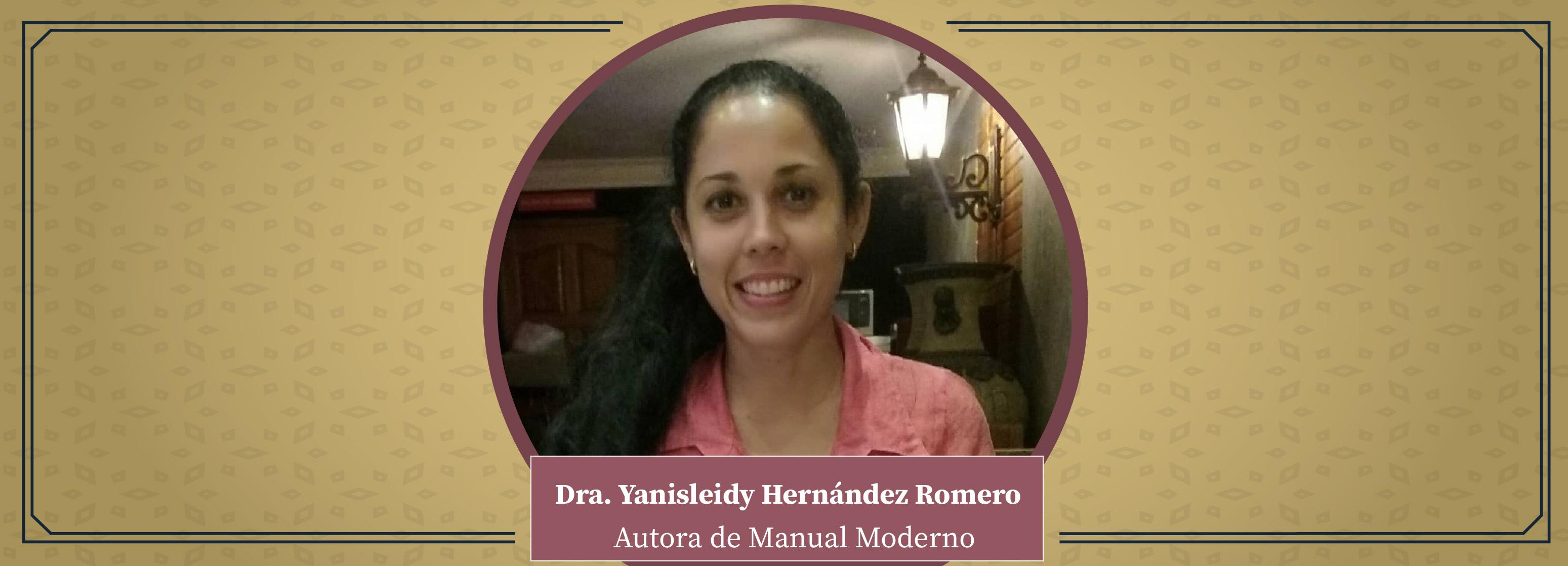 Nuestros Autores. Dra. Yanisleidy Hernández Romero
